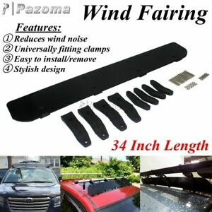 """Car Roof Rack 34"""" Wind Deflector Fairing Universal For Chevrolet Ford Toyota BMW"""
