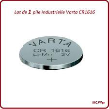 1 pile bouton CR1616 lithium Varta Industrielle, livraison rapide et gratuite