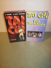 TAI CHI VHS LOT - TAI CHI - 6 FORMS - 6 EASY LESSONS & TAI CHI FOR SENIORS