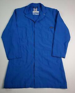 Workrite Flame Resistant Lab Work Coat Jacket Men's Size Medium Blue Snop Front