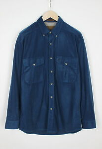 BROWNING BUCK SUEDE 30124546 Men's LARGE Soft Casual Patch Pockets Shirt 33932-G