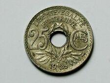 1925 FRANCE Coin by Lindauer - 25 Centimes - AU+ toned-lustre