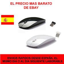 Ratón mouse inalambrico wireless extraplano diseño mac plano flat  blanco, negro