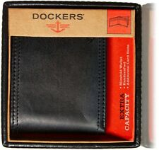 Dockers Men's Wallet Extra Capacity Leather Bifold 31DK1334 Black Billfold