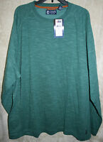 NWT CHAPS long sleeve Explorer knit shirt crew Colors Very Soft mens 100% Cotton