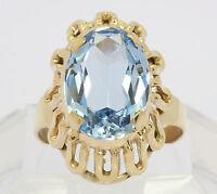 ♦♦Blautopas Ring in aus 8 kt  333  Gelb Gold mit  Blau Topas Goldring Topasring