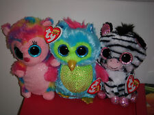 """Ty Beanie Boos Set of 3 ~ 6"""" HOLLY, OPAL & IZZY ~ Justice Exclusives ~ MWMT'S"""