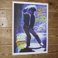 Michael Jackson Five 5 BAD Repro Tour Blue POSTER