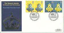 Gb-1990-10th aprile Queens Award per l'esportazione LGC Annulla Royal Mail FDC-rif2