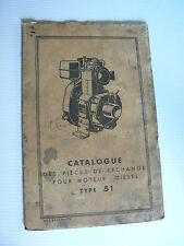 catalogue des pièces de rechange du moteur fixe diesel BERNARD MOTEURS type 51