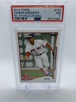 Xander Bogaerts 2014 Topps Rookie RC PSA 7 NM Boston Red Sox  No Sparkle On Ball