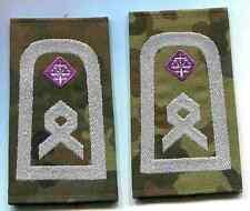 Esercito tedesco: rango cinghie, maresciallo, giustizia. BIANCO-LILLA su FLECKTARN .1 paia