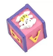 """Baby Bedroom 83081 Pink Baby ABC Block 1 1/4"""" Square Knobs 16 Items Baby shower"""