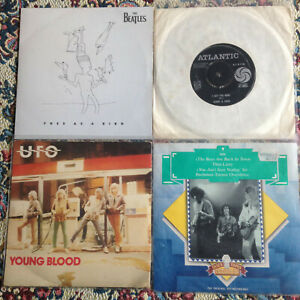 """JOBLOT 20 X ROCK & POP 7"""" - BEATLES, QUEEN, GORDON WALLER, ACE FREHLEY, VENTURES"""