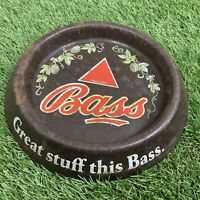 Vintage 'Great Stuff This BASS' Ashtray - Flower Design - Man Cave Pub Bar - 60s