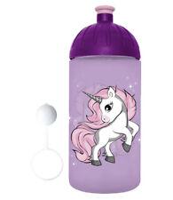ISYbe Trinkflasche 1.0L Blumen Wasserflasche Kinder Sport BPA-frei