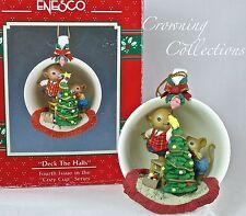 Enesco Deck The Halls Cozy Cup Mice Treasury of Christmas Ornament Tree Teacup 4
