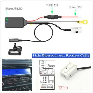 Car Bluetooth Audio Receiver Adapter 12pin Bluetooth Aux Receiver Cable For MFD3