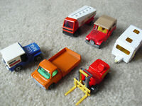 Lot of 6 Vintage 1970s Matchbox Superfast Vehicles with Forklift Jeep More