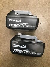 New 2 Pack Genuine Makita BL1850B 18V 5.0Ah Lithium Ion Battery