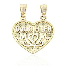 Gold Mom Daughter Break-apart Charm, 10k Solid Gold, Charm America Jewelry