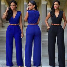 Women Sleeveless Clubwear Summer Playsuit Bodycon Jumpsuit Romper Trousers Stock