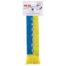 LKW Auto Minischal Ukraine Mini Schal Wimpel Saugnapf Spiegel Deko Fahne Flagge