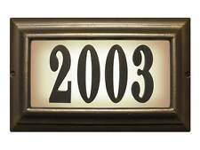 Large lighted address sign in French Bronze