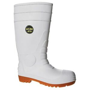 Safety Jogger POSEIDON Steel Cap Gumboots WHITE for Healthcare Profession
