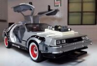 1:24 Escala Delorean DMC Back To The Future 3 Detallado Welly Fundido Modelismo