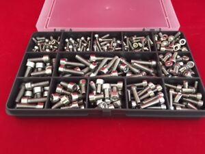 M3 M4 M5 Assorted 300 pcs Stainless Steel Allen Socket Cap Head Machine Screws