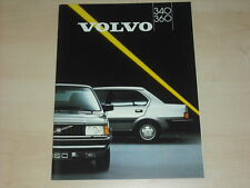 60306) Volvo 340 360 Prospekt 1987