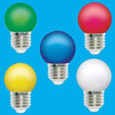 20x variés Paquet de 5 0.5W coloré E27 DEL Ampoule Balle de golf es Festoon
