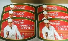 New listing Vintage Coca-cola Reversible Table/Place Mat Fountain Service 6 Pieces Used
