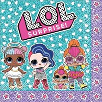 LOL Surprise Party Supplies - Lunch Napkins 16 Pack Birthday Girls Tableware