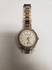 Michael Kors 2 tone Rose Gold, Clear Acrylic Bracelet Watch