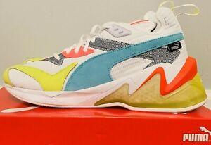 Puma LQDCell Origin Training Shoes Black Gray White Neon Yellow Aqua Blue Men