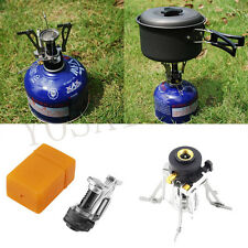 Portable Folding Mini Camping Survival Cooking Furnace Stove Gas Outdoor 1set