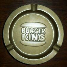 """VTG BURGER KING LOT OF 10 WHOPPER LOGO TIN RESTAURANT ADVERTISING ASHTRAYS 3.5"""""""