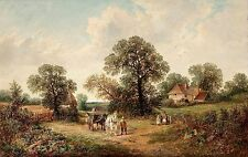 Sussex Landscape (Rural Scene) by James Edwin Meadows Old Masters 12x19 Print