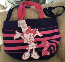 NWT DISNEY PARKS MINNIE MOUSE TOTE SHOUDER BAG PINK BLUE BEACH BAG CARRY ON