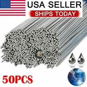 50pc Aluminum Solution Welding Flux-Cored Rods Wire Brazing Rod 1.6mm x 500mm