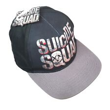 Suicide Squad Baseball Cap Black Gray In Squad We Trust One Size Snap Back Hat