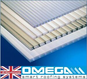 10mm Greenhouse Polycarbonate  Glazing &Roofing Sheets, Clear, Various Sizes