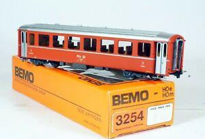 BEMO H0m 2354 Voiture voyageurs courte 2ème Cl B 2457 RHB CF Rhétiques OVP Neuve