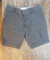 Old Navy Chino Bermuda Shorts Charcoal Gray Casual Cute Bottoms Size 0 SALE