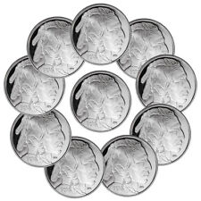 Lot of 10 - 2018 Highland Mint Buffalo Nickel Design 1 oz Silver Round SKU50337