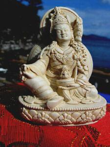 HAND CRAFTED DETAILED TIBETAN BUDDHIST PADMASAMBHAVA GURU RINPOCHE STATUE USA