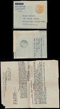 GOLD COAST KG6 AEROGRAMME 6d APAM to LIVERPOOL 1949 TWIDAN TRADING CORNED BEEF
