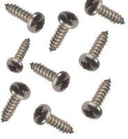 100 x Self Tapping Pan Head Screws 4 6 8 10 12 Gauge Pan Head Pozi BZP Tappers